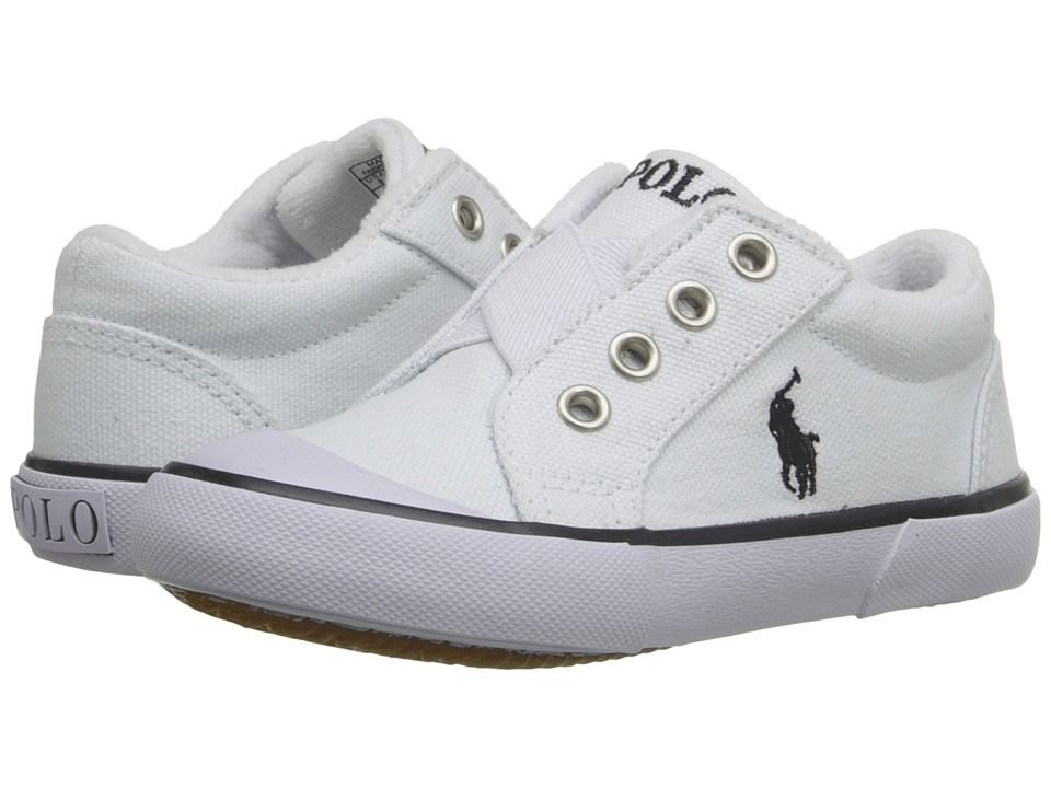 Polo Ralph Lauren Kids - Greggner (Toddler) (White Canvas) Boys Shoes