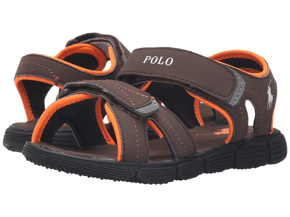 Polo Ralph Lauren Kids Brody Little Kid Chocolate Sportbuck Boys Shoes
