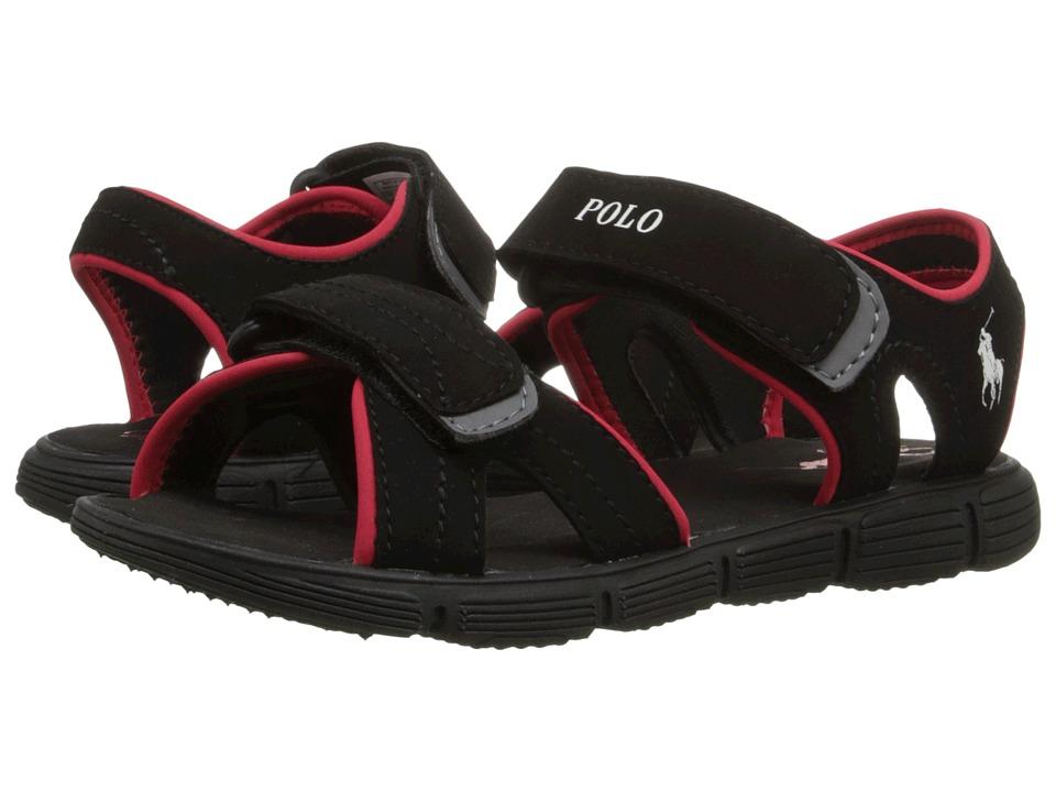 Polo Ralph Lauren Kids - Brody (Little Kid) (Black Sportbuck) Boys Shoes