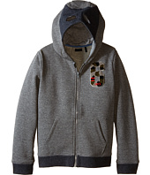 IKKS - Zip-Up Hoodie Sweatshirt with Mask on Hood (Little Kids/Big Kids)