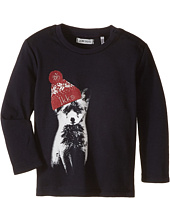IKKS - Long Sleeve Tee with Fox Wearing Beanie (Infant/Toddler)