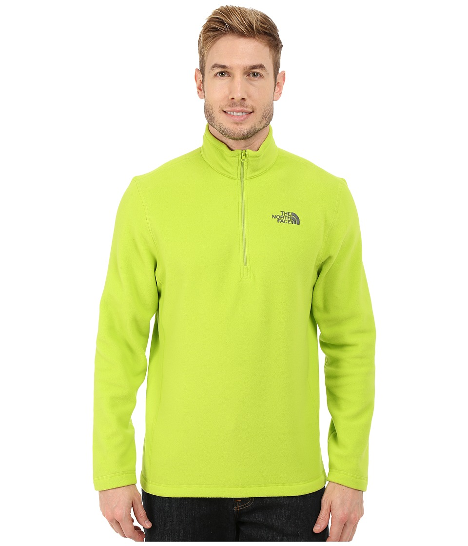 The North Face TKA 100 Glacier 1/4 Zip Macaw Green Mens Sweatshirt