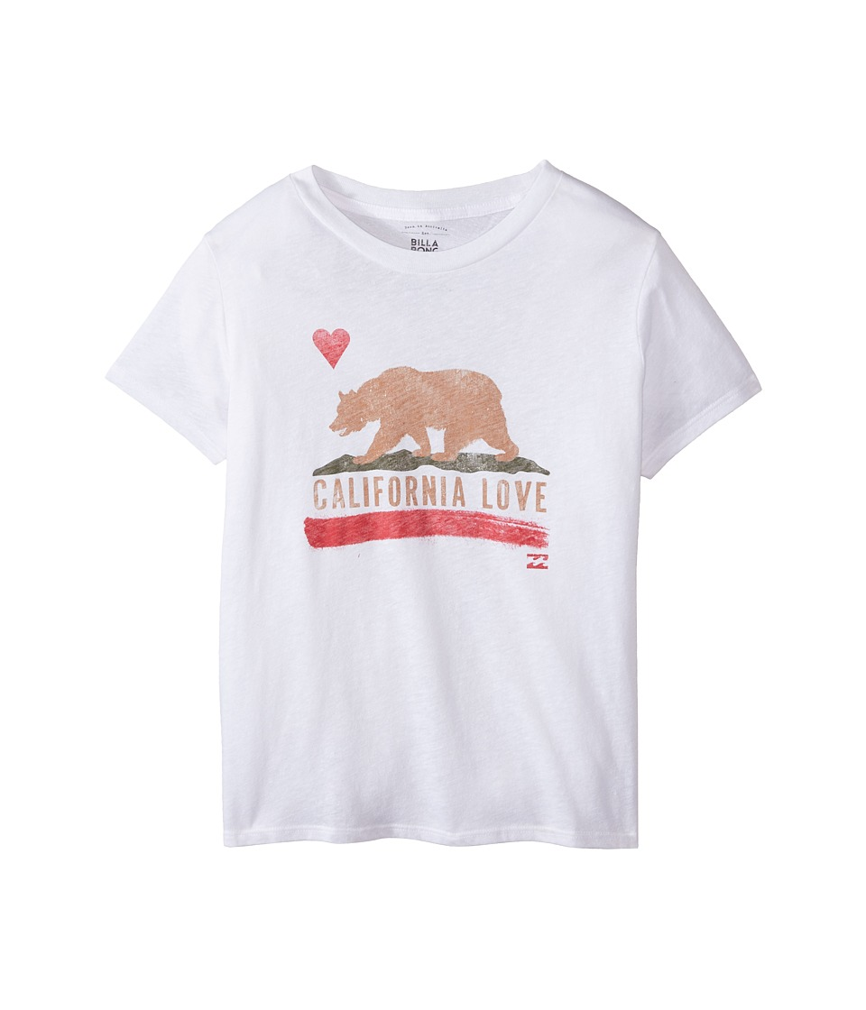 Billabong Kids Golden State Short Sleeve Boyfriend Tee Little Kids/Big Kids White Girls T Shirt