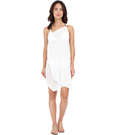 MICHAEL Michael Kors - Solids One Shoulder Draped Cover-Up Dress