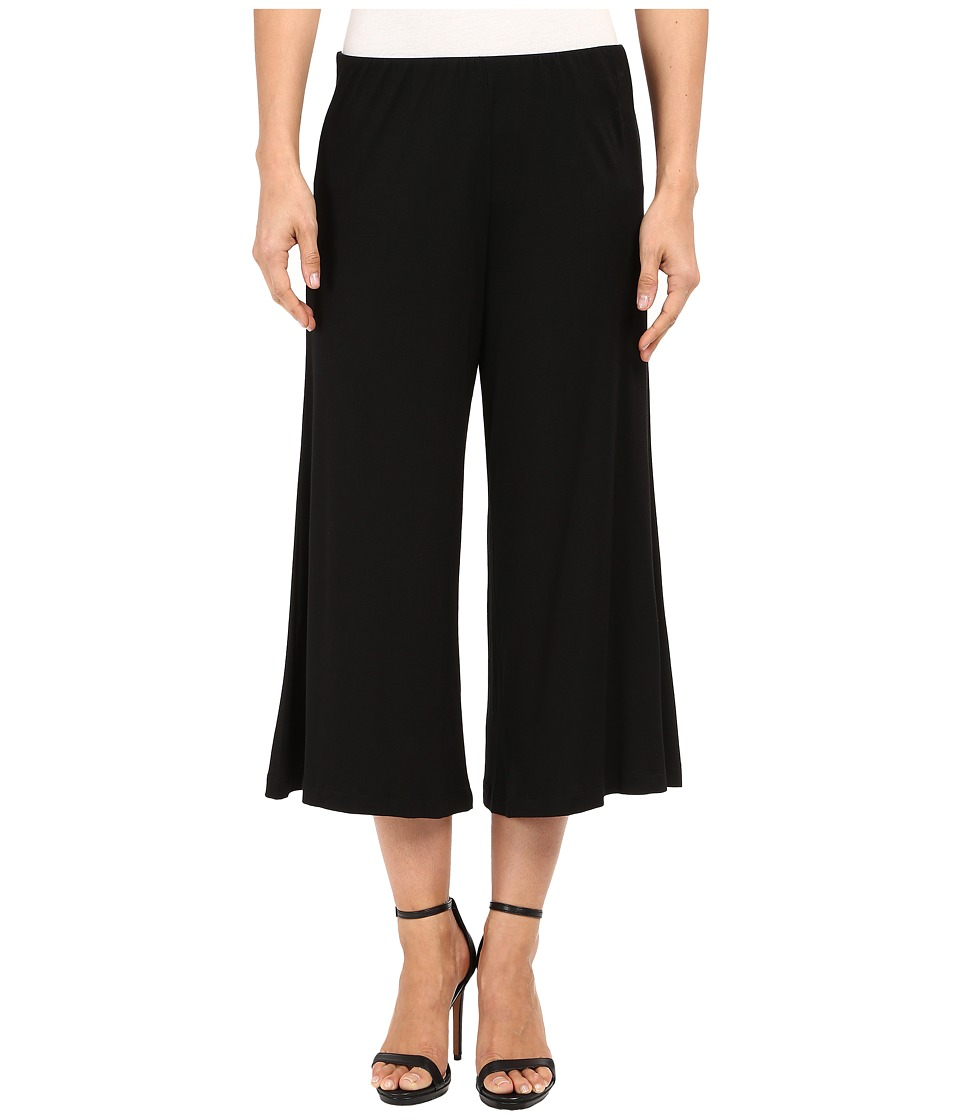 Nally amp Millie Bell Bottom Cropped Pants Black Womens Clothing