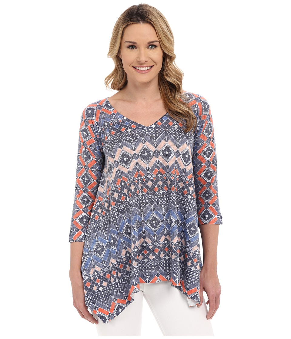Nally amp Millie Aztec Tunic Orange Multi Womens Long Sleeve Pullover