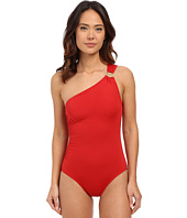 MICHAEL Michael Kors - Logo Ring One Shoulder Maillot One-Piece