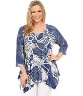 Nally & Millie - Plus Size Handpaint Floral Tunic