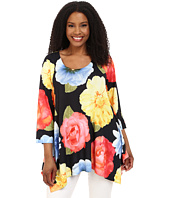 Nally & Millie - Plus Size Big Florals Tunic