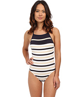 MICHAEL Michael Kors - Nauset Stripe High Neck Maillot One-Piece