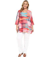 Nally & Millie - Plus Size Chevron Tunic
