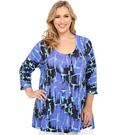 Nally & Millie - Plus Size Electric Blue Tunic