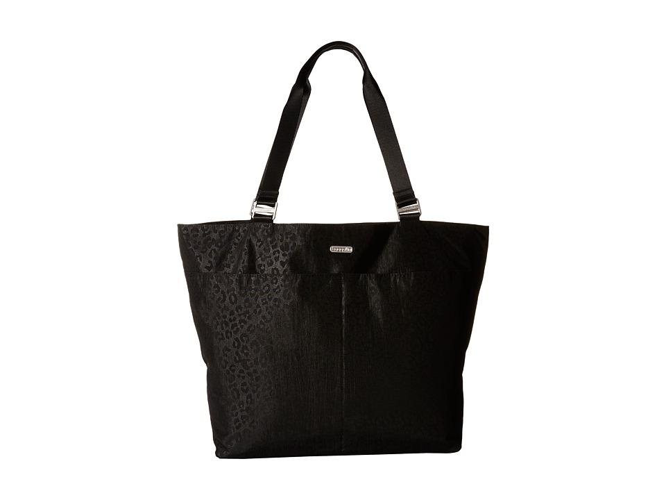 Baggallini Carryall Tote Black Cheetah Emboss Tote Handbags