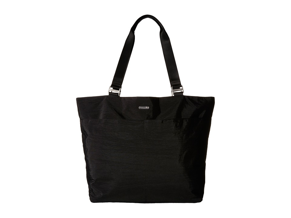 Baggallini Carryall Tote Black With Sand Lining Tote Handbags