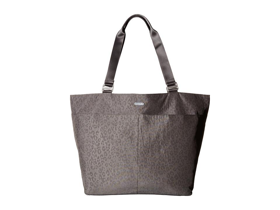 Baggallini - Carryall Tote (Pewter/Cheetah Emboss) Tote Handbags