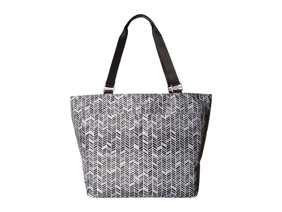 Baggallini Carryall Tote Black amp Grey Chevron Tote Handbags