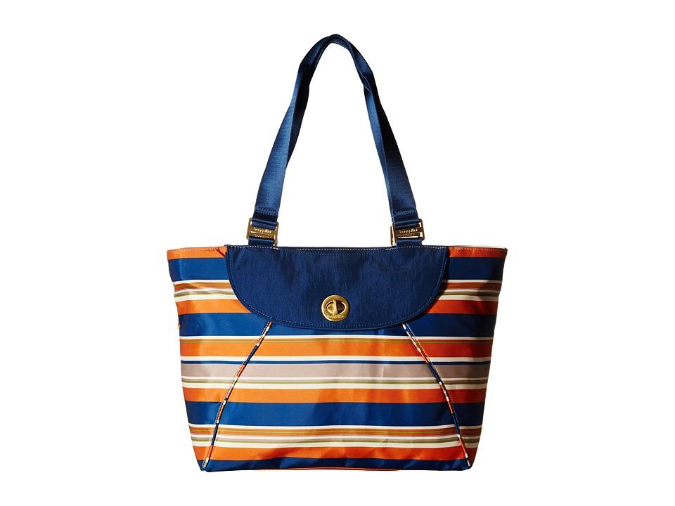 Baggallini Gold Alberta Tote Pacific Stripe Tote Handbags