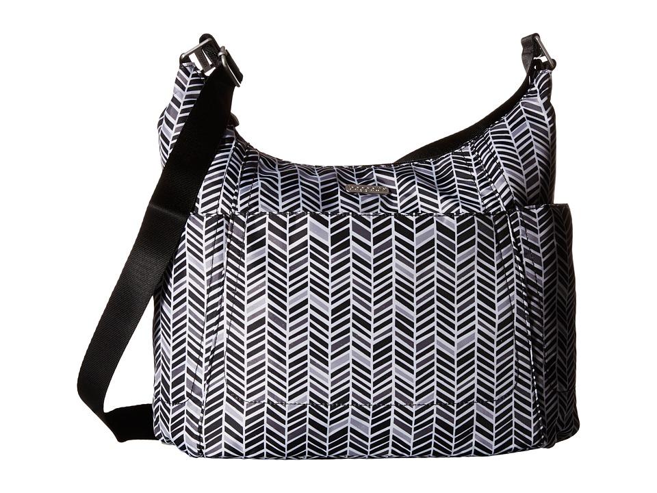 Baggallini Hobo Tote Black amp Grey Chevron Cross Body Handbags