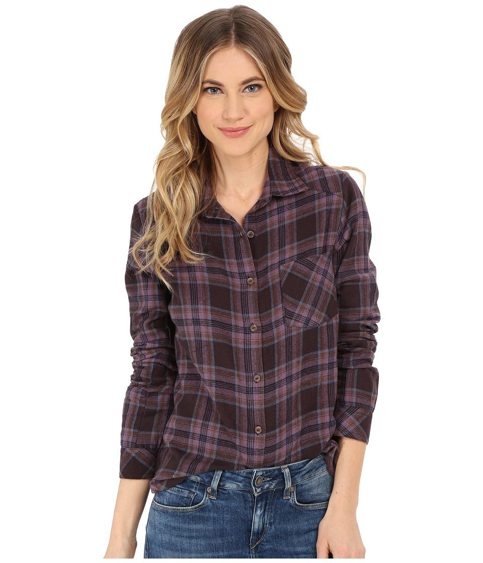 RVCA Jig 4 Top Shale Womens Long Sleeve Button Up