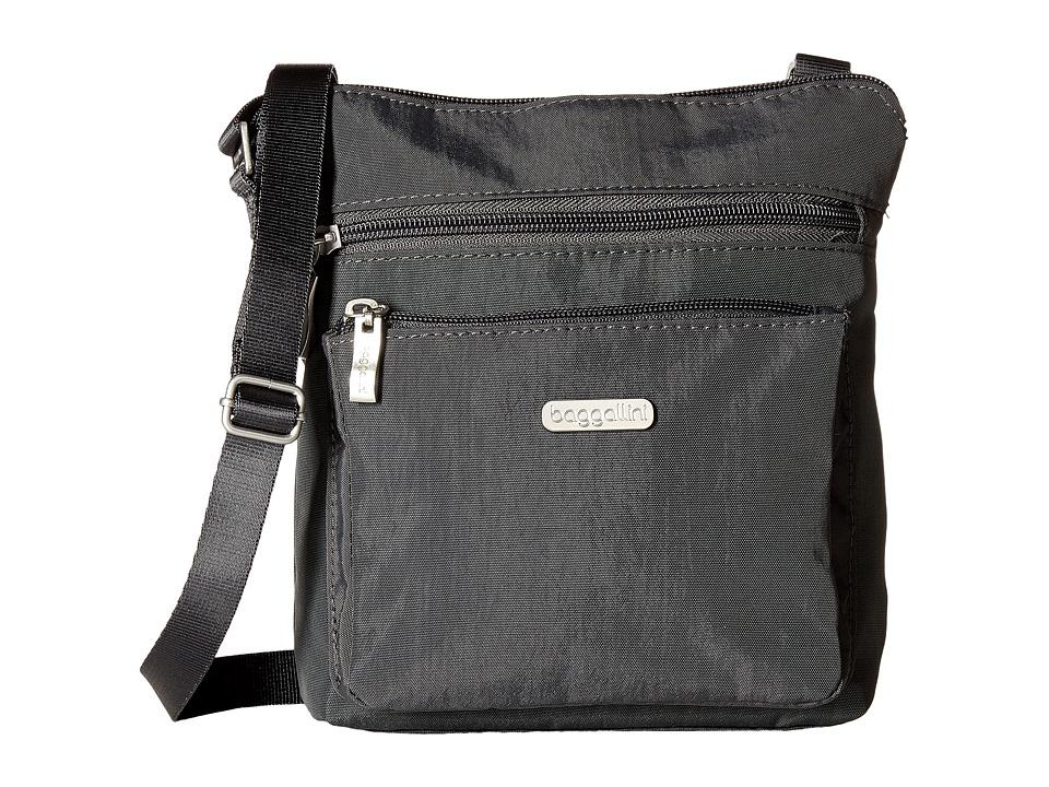 Baggallini - Pocket Crossbody (Charcoal) Cross Body Handbags