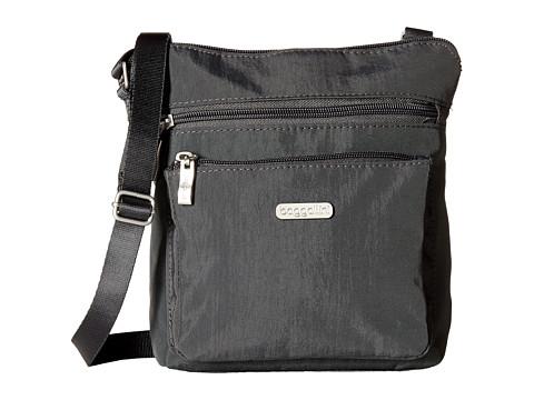 Baggallini Pocket Crossbody Bag with RFID Wristlet - Charcoal
