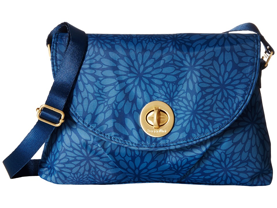 Baggallini Gold Nassau Crossbody Pacific Floral Cross Body Handbags
