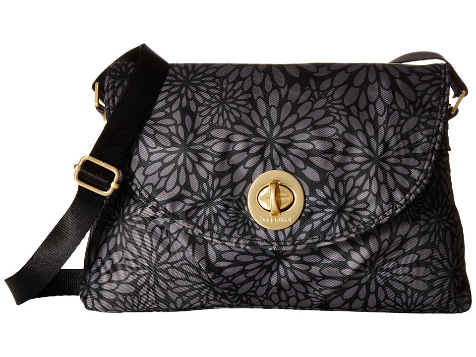 Baggallini Gold Nassau Crossbody Pewter Floral Cross Body Handbags