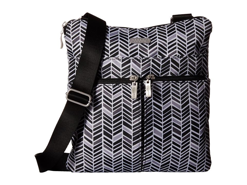 Baggallini Horizon Crossbody Black amp Grey Chevron Cross Body Handbags