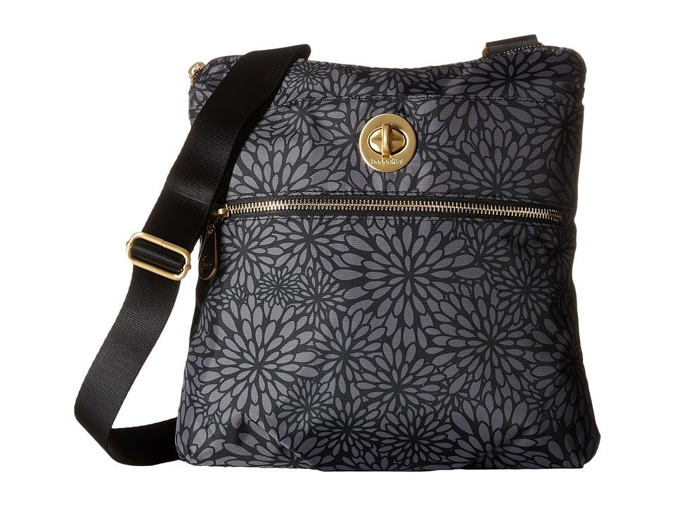 Baggallini Gold Hanover Crossbody Pewter Floral Cross Body Handbags
