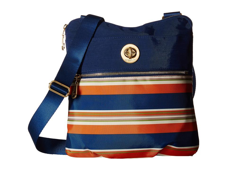 Baggallini Gold Hanover Crossbody Pacific Stripe Cross Body Handbags