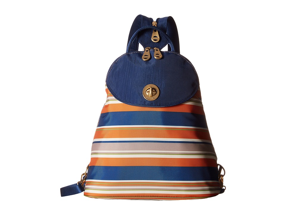 Baggallini Gold Cairo Backpack Pacific Stripe Backpack Bags