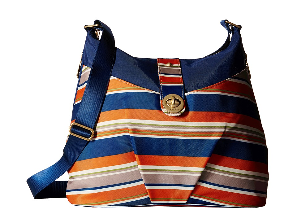 Baggallini Gold Helsinki Bag Pacific Stripe Handbags