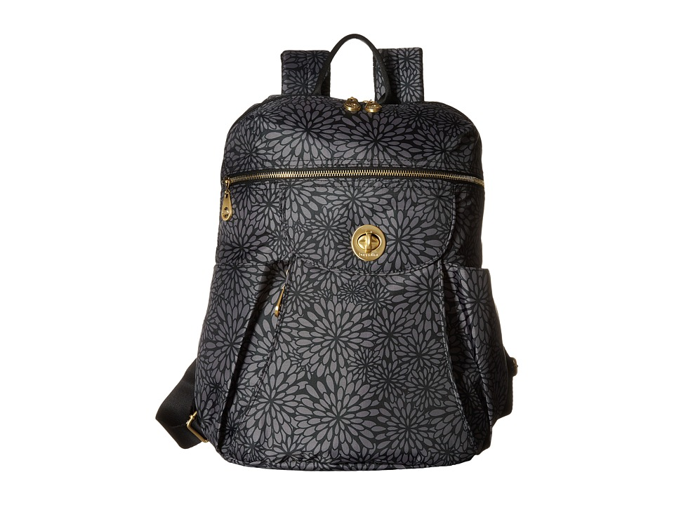Baggallini Gold Capetown Backpack Pewter Floral Backpack Bags