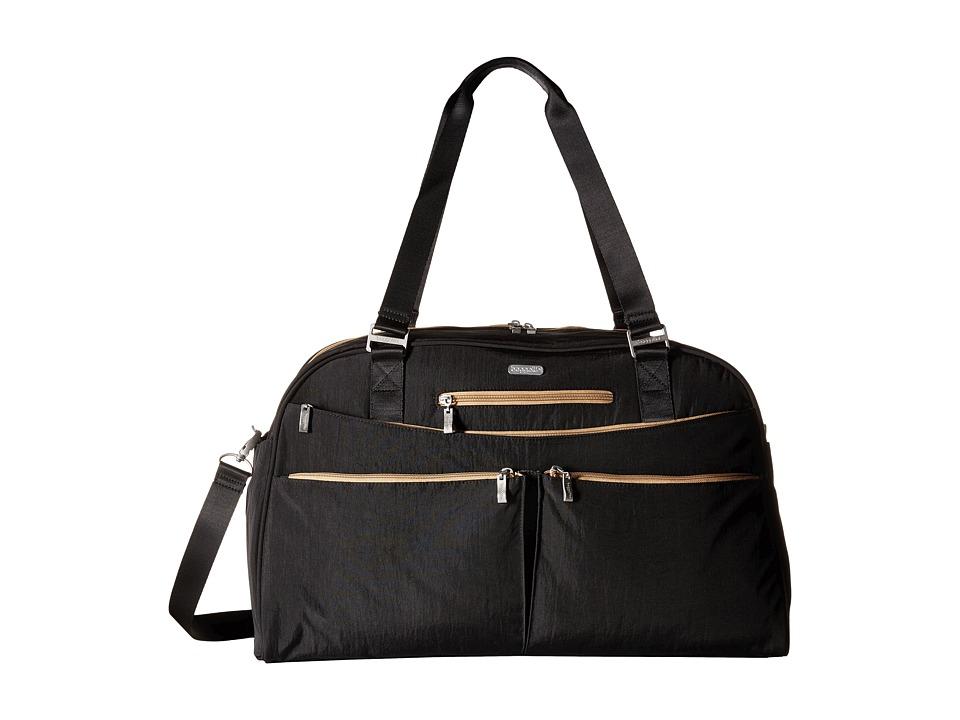 Baggallini Weekender (Black With Sand Lining) Bags