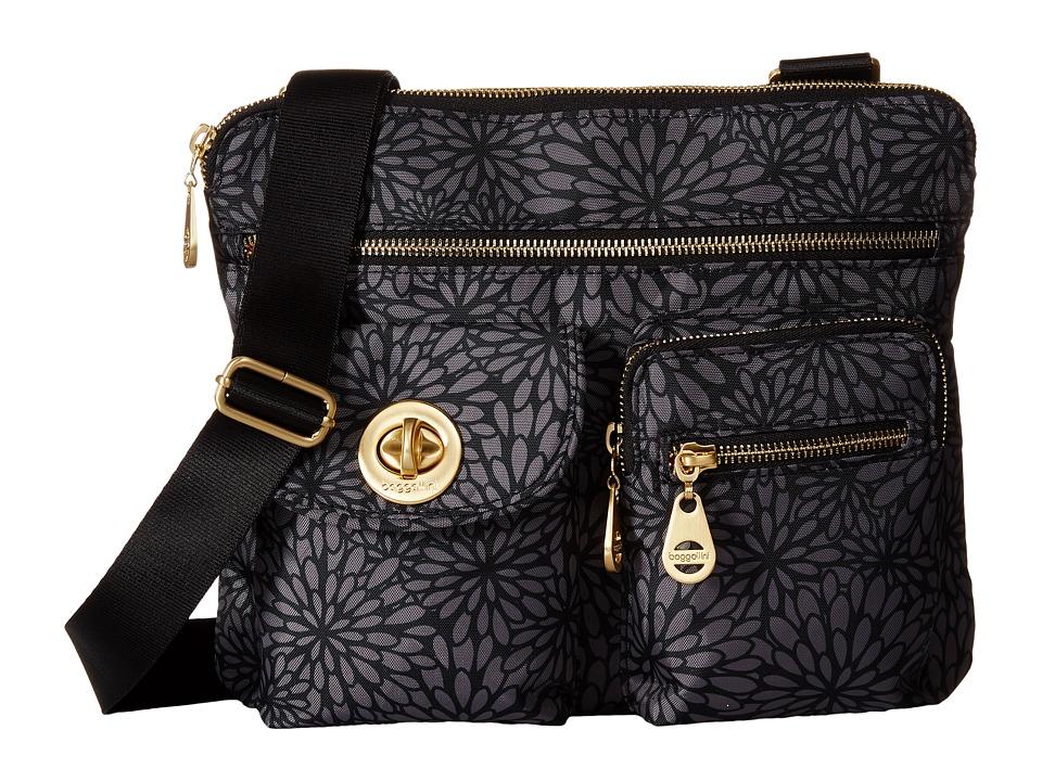 Baggallini Gold Sydney Pewter Floral Handbags