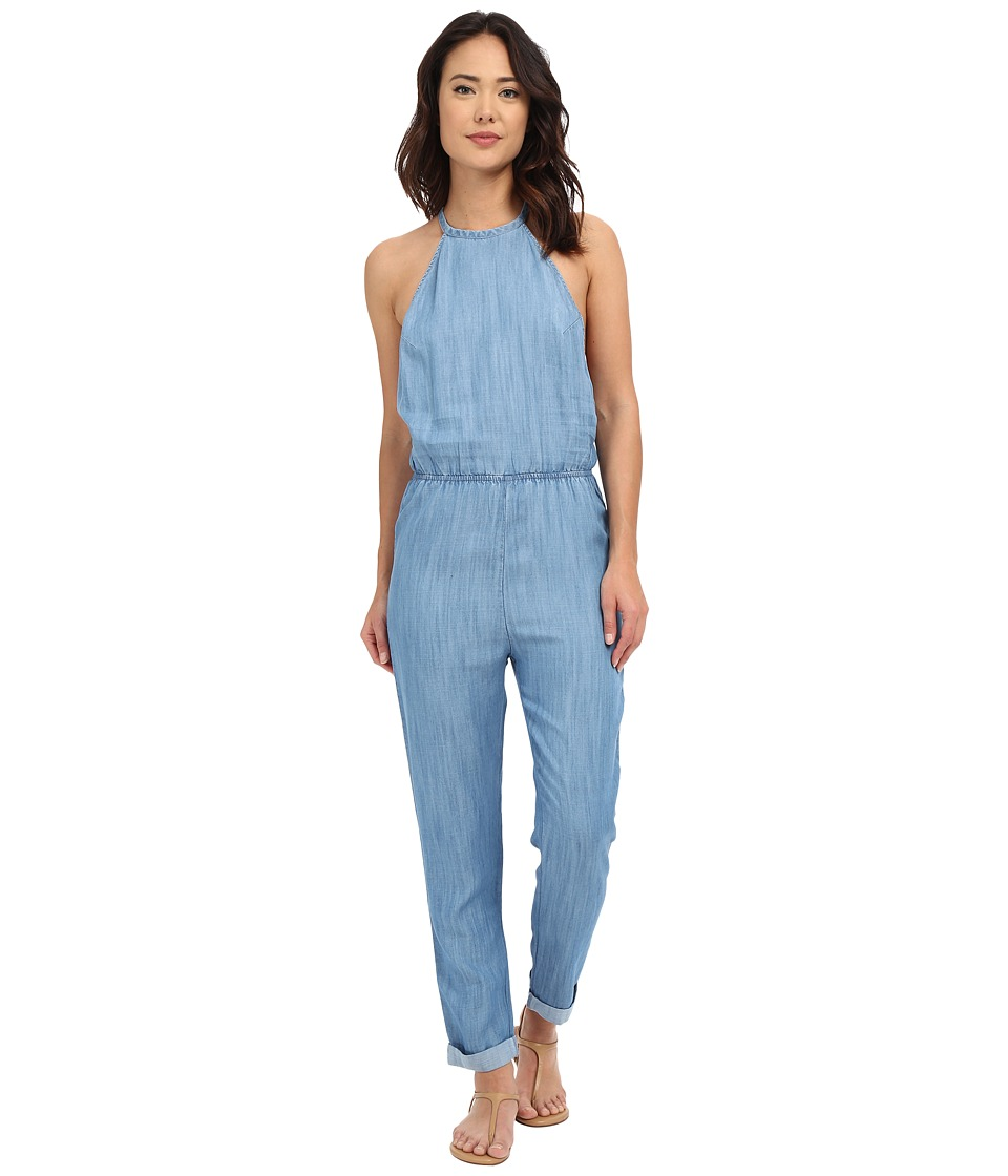 RVCA Be About It Jumpsuit Chambray 2 Womens Jumpsuit Rompers One Piece
