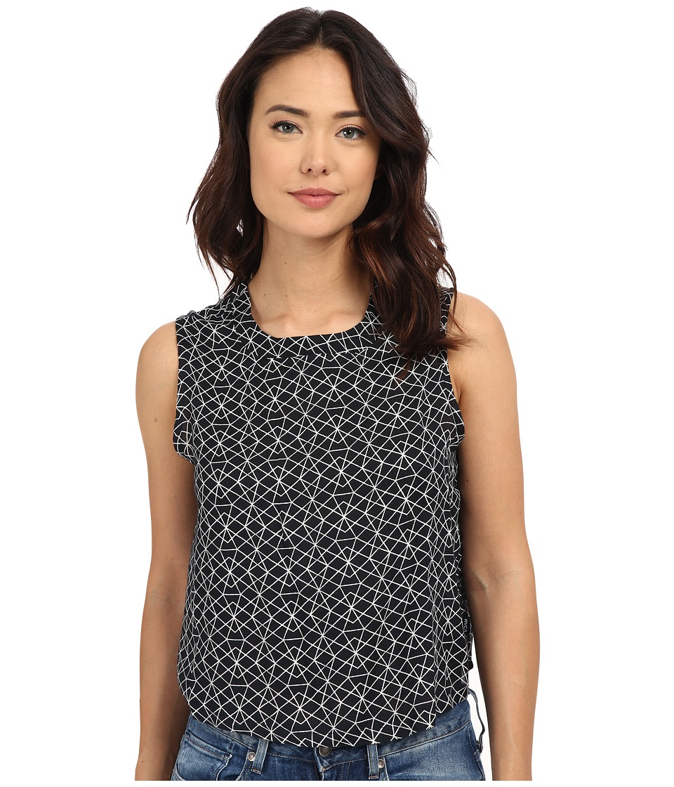 RVCA Finder Woven Top Black Womens Blouse