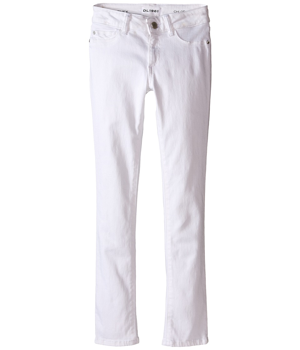 DL1961 Kids Chloe Skinny Jeans in Snow (Big Kids) (Snow) Girl
