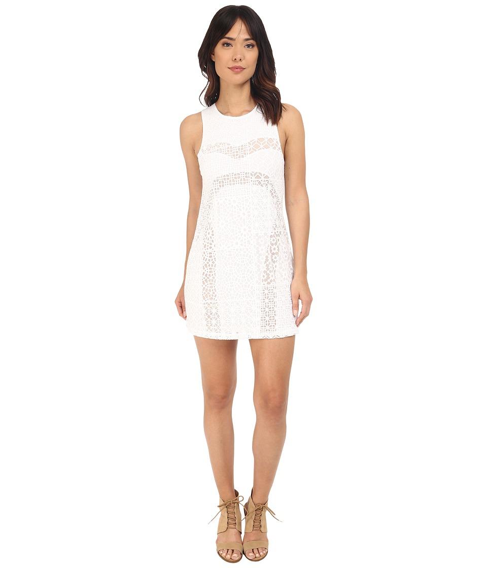 RVCA Tell Me Lies Dress Vintage White Womens Dress