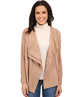 Bobeau - Waterfall Faux Suede Jacket