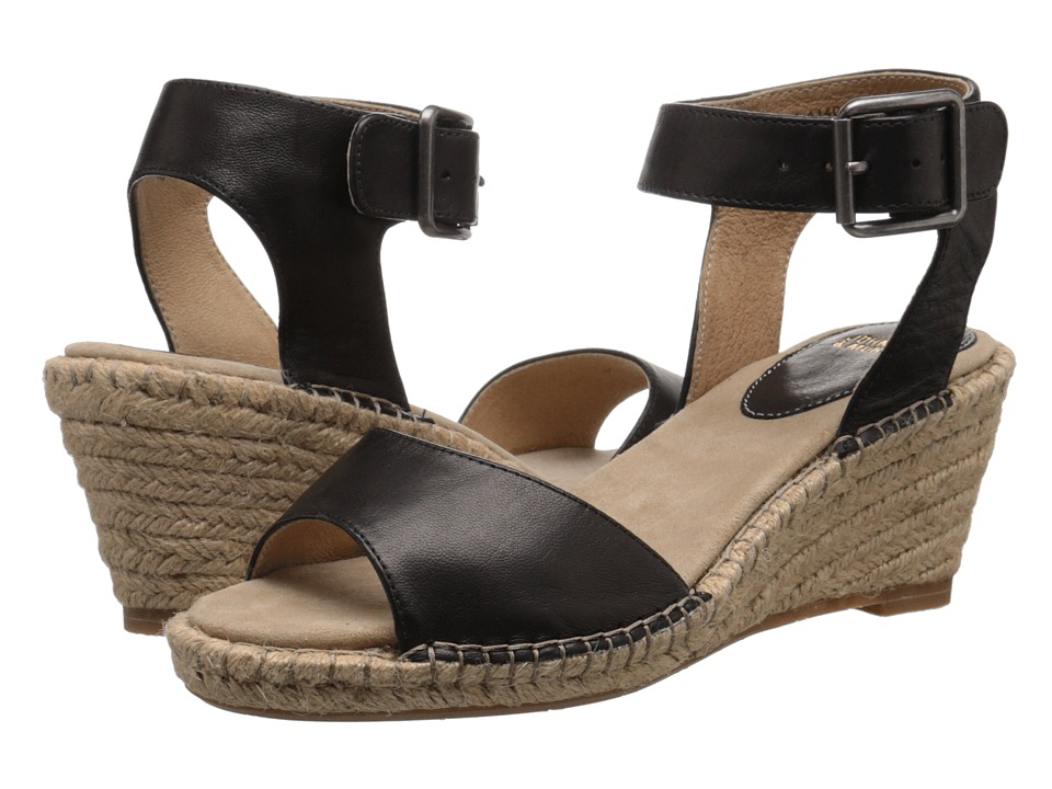 Johnston amp Murphy Angela Ankle Strap Black Italian Soft Calfskin Womens Sandals