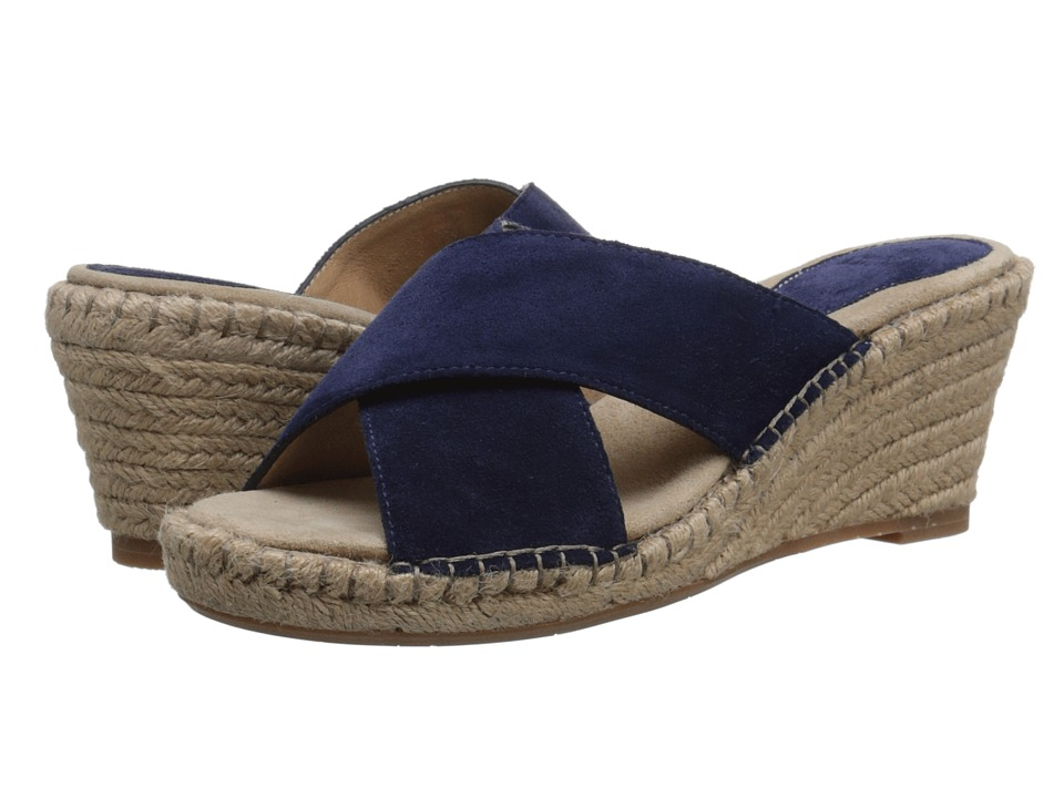Johnston amp Murphy Arlene Cross Band Navy Suede Womens Sandals