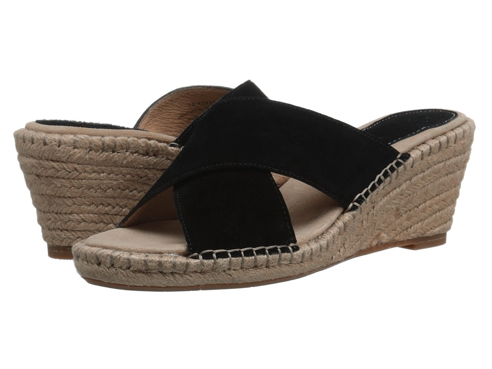 Johnston amp Murphy Arlene Cross Band Black Suede Womens Sandals