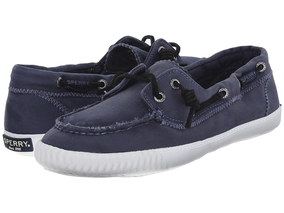 Sperry Top Sider Sayel Away Washed Navy Womens Moccasin Shoes