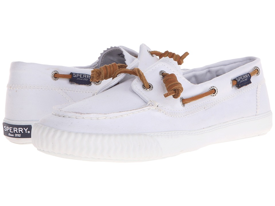 Sperry Top Sider Sayel Away Washed White Womens Moccasin Shoes