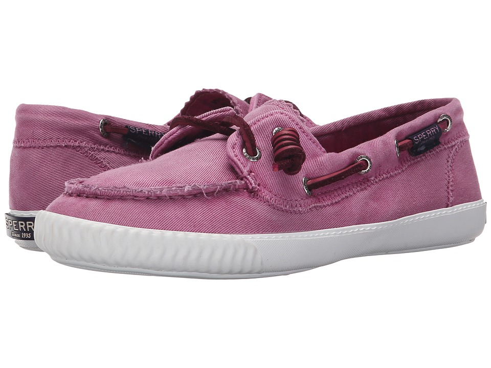 Sperry Top Sider Sayel Away Washed Bright Pink Womens Moccasin Shoes