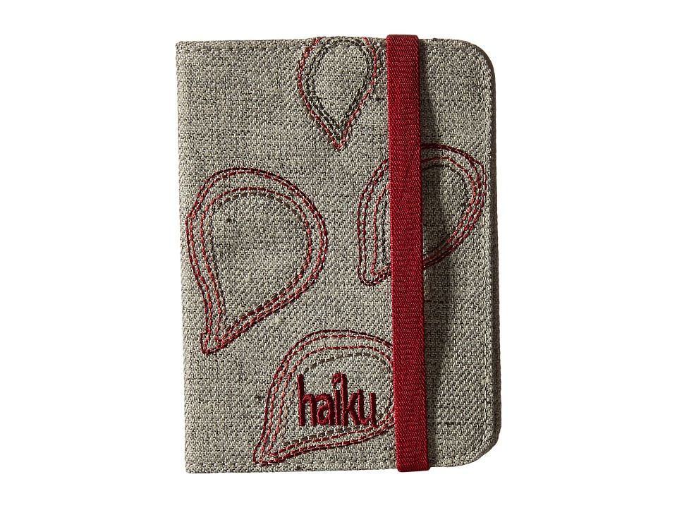 Haiku - Track RFID Passport Case (Mushroom) Handbags