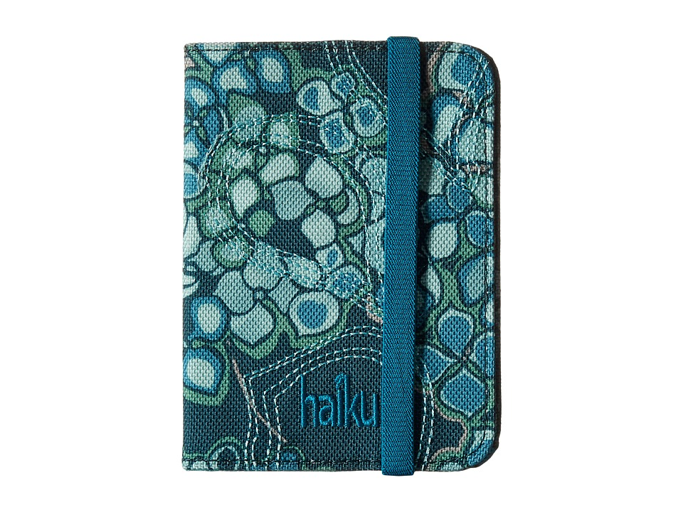Haiku - Track RFID Passport Case (Hydrangea Print) Handbags