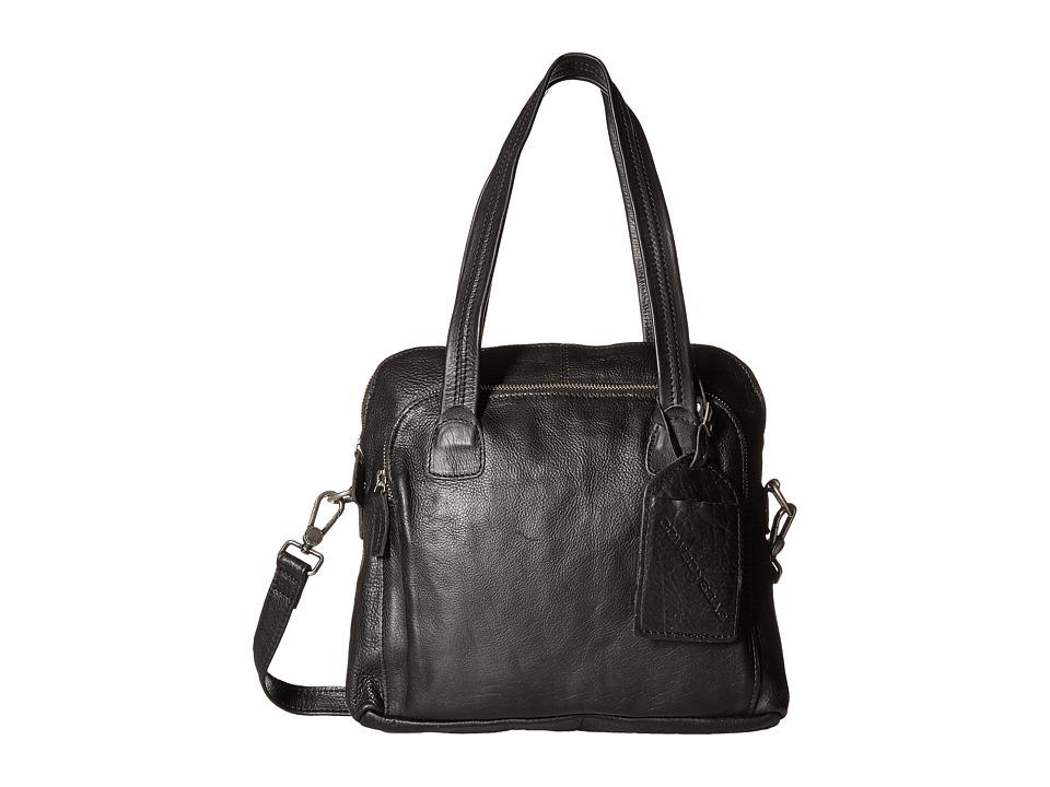 COWBOYSBELT - Livingston (Black) Satchel Handbags