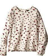 IKKS - Red Lips & Ruffle Down Front Blouse (Little Kids/Big Kids)